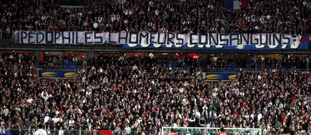 Banderole PSG / LENS - Coupe de France 2008 - Source [2]