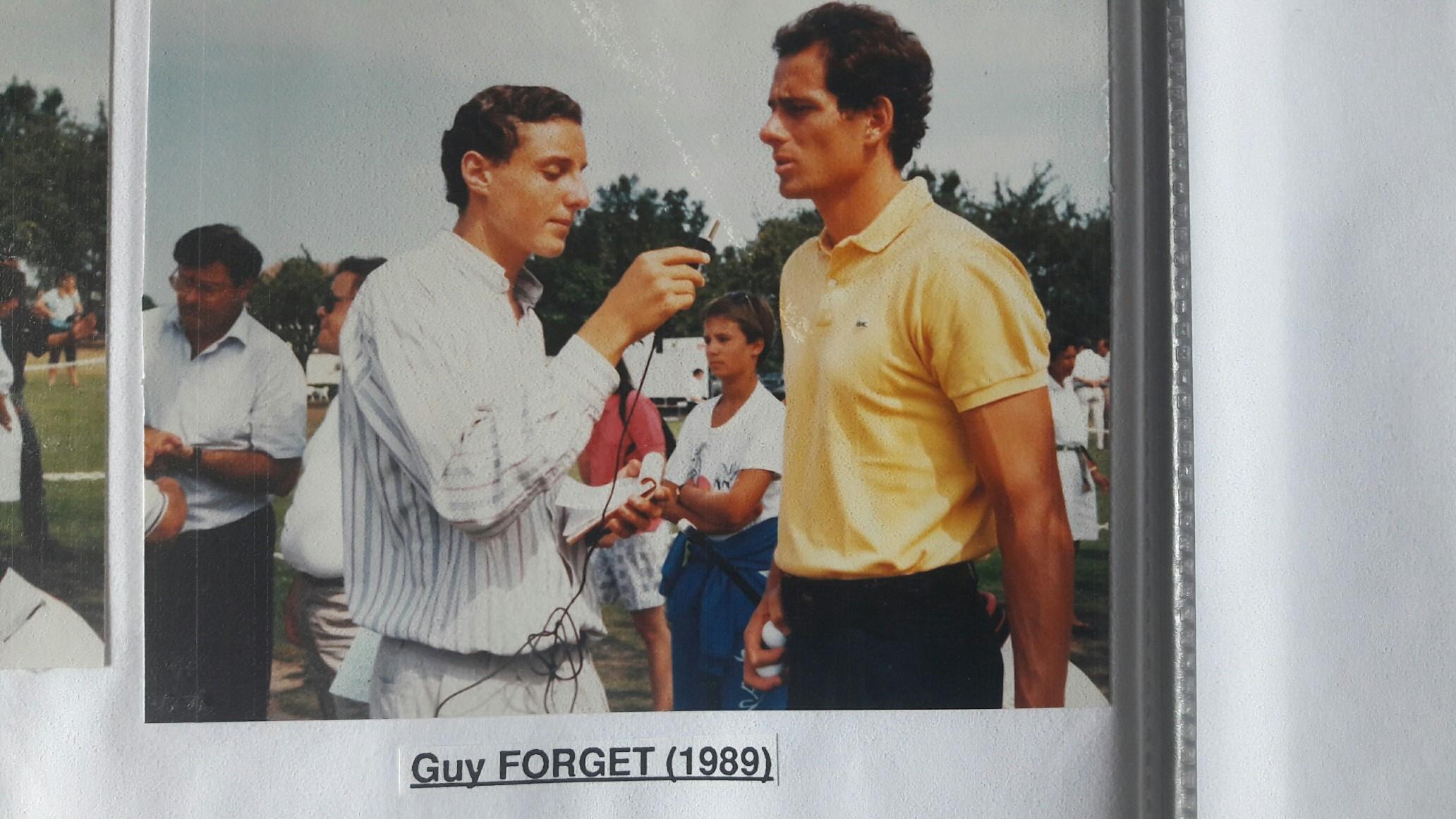 Arnaud Ramsay et Guy Forget